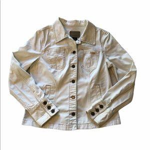 Calvin Klein White Denim Jacket   Large